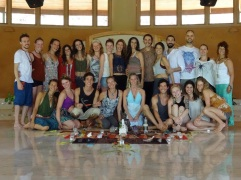 Graduation from yoga teacher training